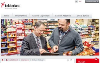 (2014) Doppelseite Lekkerland Geschäftsbericht 2013